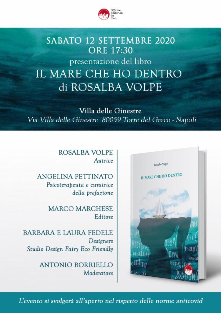 La locandina della presentazione del libro Il mare che ho dentro di Torre Del Greco