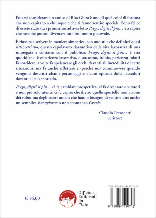 Quarta di copertina del libro Prego digiti il pin
