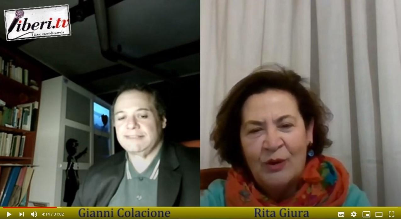 Rita Giura e Gianni Colazione nel corso dell'intervista