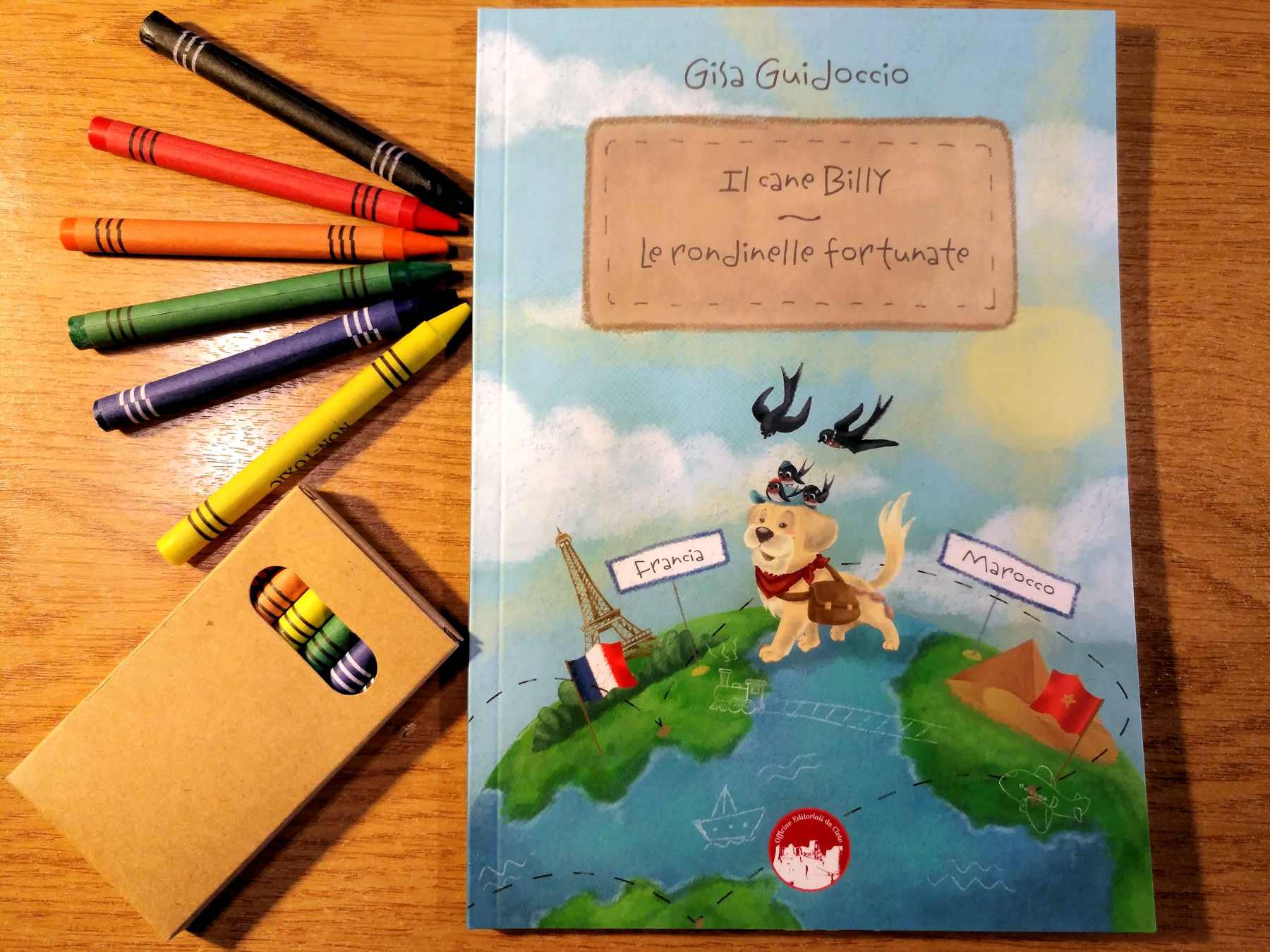 La copertina del libro di Gisa Guidoccio Il cane Billy - Le rondinelle fortunate